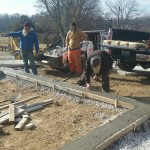 Forming perimeter footer for putting green
