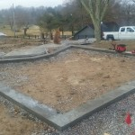 Footer of split-putting green finished